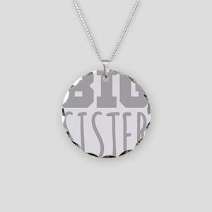 Big Sister Necklace Circle Charm