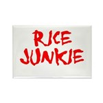 Rice Junkie Rectangle Magnet (10 pack)