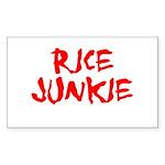 Rice Junkie Rectangle Sticker
