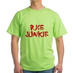 Rice Junkie Green T-Shirt