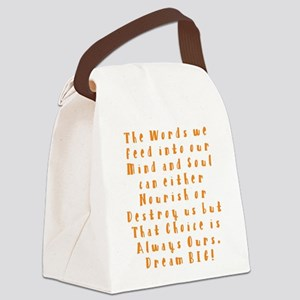 A Positive Meal Canvas Lunch Bag