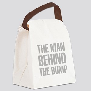 The Man Behind The Bump Canvas Lunch Bag