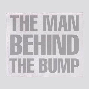 The Man Behind The Bump Throw Blanket