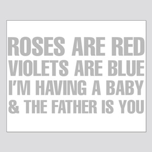 Roses Are Red And The Father Is You Poem Poster De
