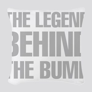 The Legend Behind The Bump Woven Throw Pillow