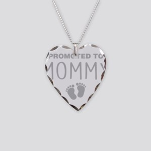 Promoted To Mommy Necklace Heart Charm
