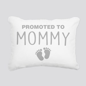 Promoted To Mommy Rectangular Canvas Pillow