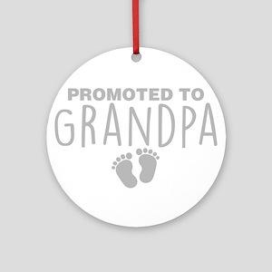 Promoted To Grandpa Round Ornament