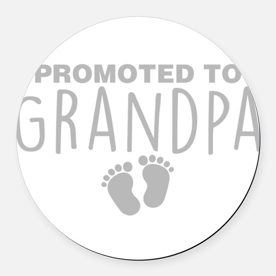 Promoted To Grandpa Round Car Magnet