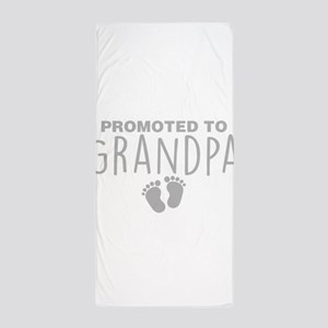 Promoted To Grandpa Beach Towel
