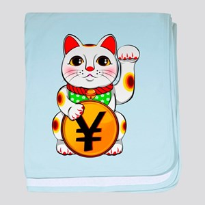 Yen Yuan Lucky Cat Maneki Neko baby blanket