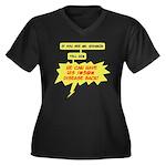 Mr. Hodgkin Women's Plus Size V-Neck Dark T-Shirt