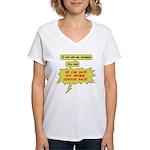 Mr. Hodgkin Women's V-Neck T-Shirt