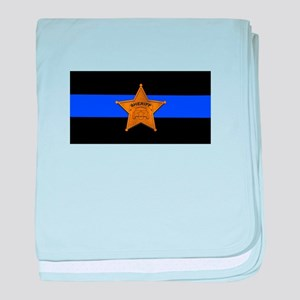 Sheriff Thin Blue Line baby blanket