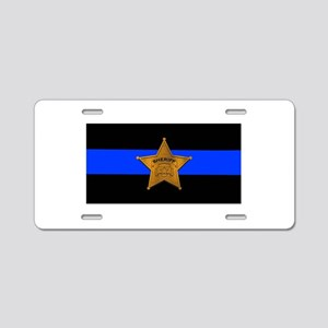 Sheriff Thin Blue Line Aluminum License Plate