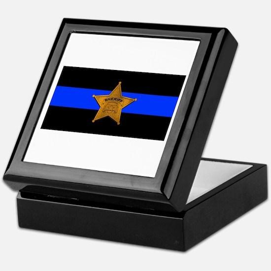Sheriff Thin Blue Line Keepsake Box