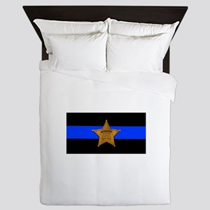 Sheriff Thin Blue Line Queen Duvet