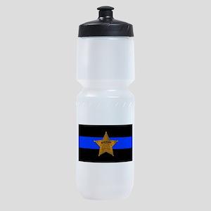 Sheriff Thin Blue Line Sports Bottle