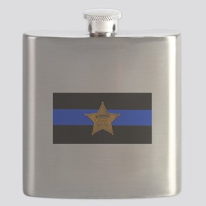 Sheriff Thin Blue Line Flask