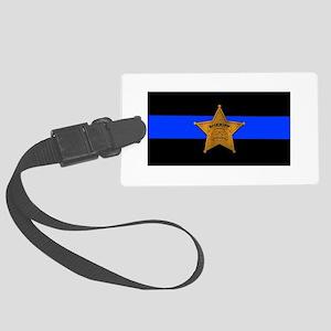 Sheriff Thin Blue Line Luggage Tag