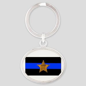 Sheriff Thin Blue Line Keychains
