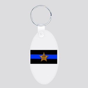 Sheriff Thin Blue Line Keychains