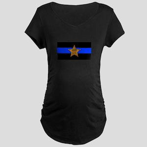 Sheriff Thin Blue Line Maternity T-Shirt