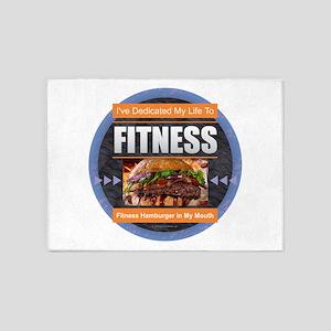 Fitness - Hamburger 5'x7'Area Rug