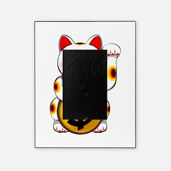 Dollar Lucky Cat Maneki Neko Picture Frame