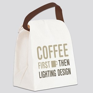 Coffee Then Lighting Design Canvas Lunch Bag