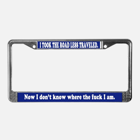 Road Less Traveled License Plate Frame