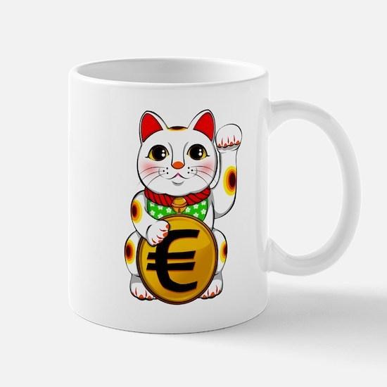 Euro Lucky Cat Maneki Neko Mugs