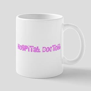 Hospital Doctor Pink Flower Design Mugs
