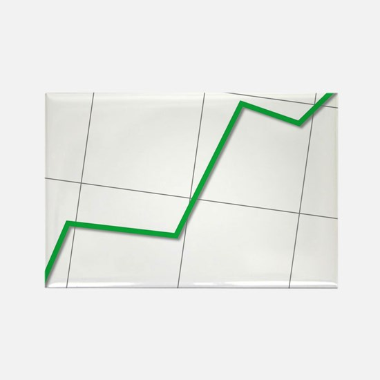 Statistic Up Rectangle Magnet