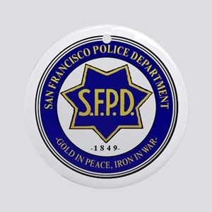 San Francisco Police Round Ornament