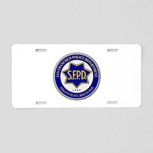 San Francisco Police Aluminum License Plate