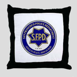 San Francisco Police Throw Pillow
