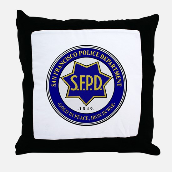 San Francisco Police Throw Pillow