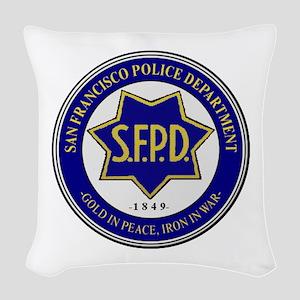 San Francisco Police Woven Throw Pillow