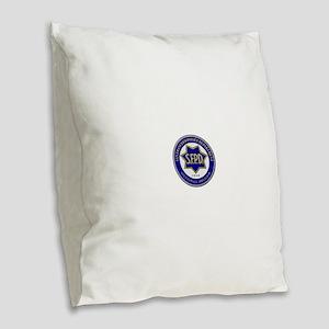 San Francisco Police Burlap Throw Pillow
