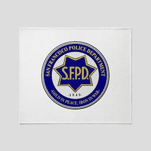 San Francisco Police Throw Blanket