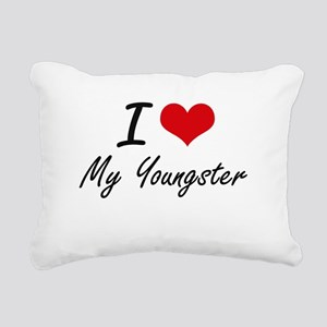 I love My Youngster Rectangular Canvas Pillow