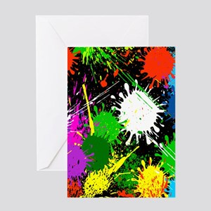 Paint Splatter Greeting Cards