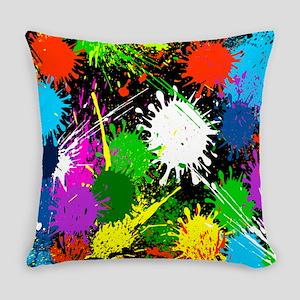 Paint Splatter Everyday Pillow