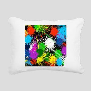 Paint Splatter Rectangular Canvas Pillow