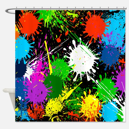 Paint Splatter Shower Curtain