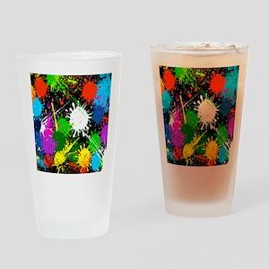 Paint Splatter Drinking Glass