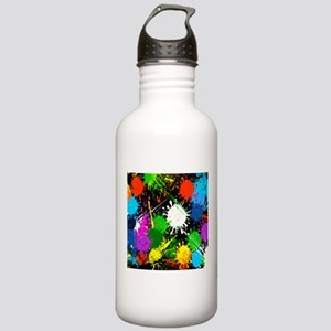 Paint Splatter Sports Water Bottle