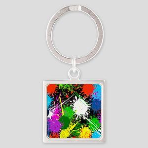 Paint Splatter Keychains