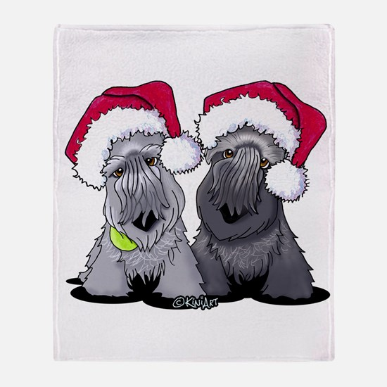 Christmas Cesky Terriers Throw Blanket